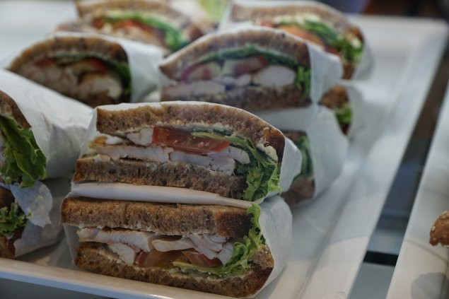 Bauernbrot-Sandwiches