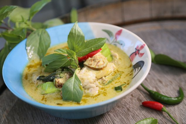 Hähnchen-Gemüse-Curry