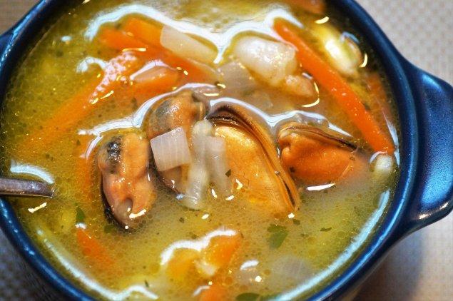 Fisch-Meeresfrüchte-Suppe