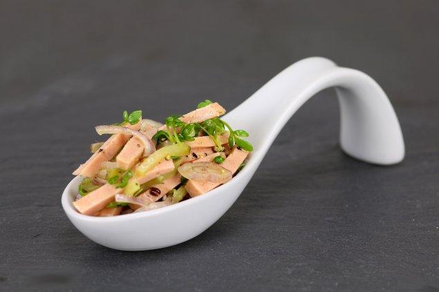Mini Wurstsalat-Häppchen