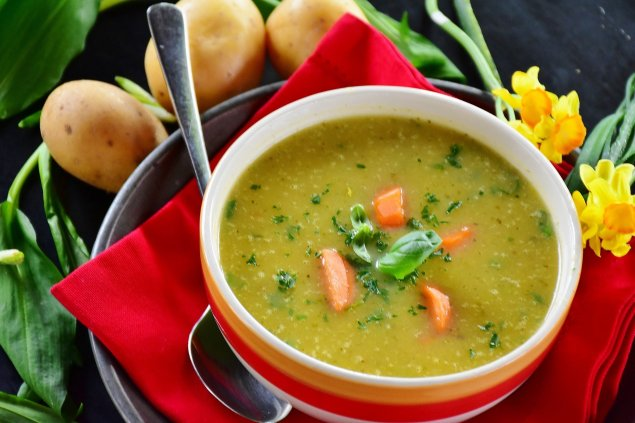 Kartoffel-Lachs-Suppe