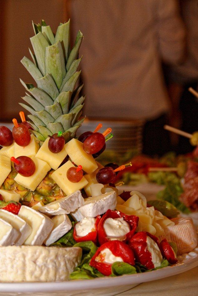 Käse-Frucht-Platte