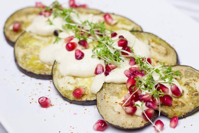 Auberginensalat mit Mozzarella