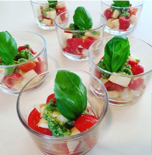 Mini Tomaten-Mozzarella-Salat