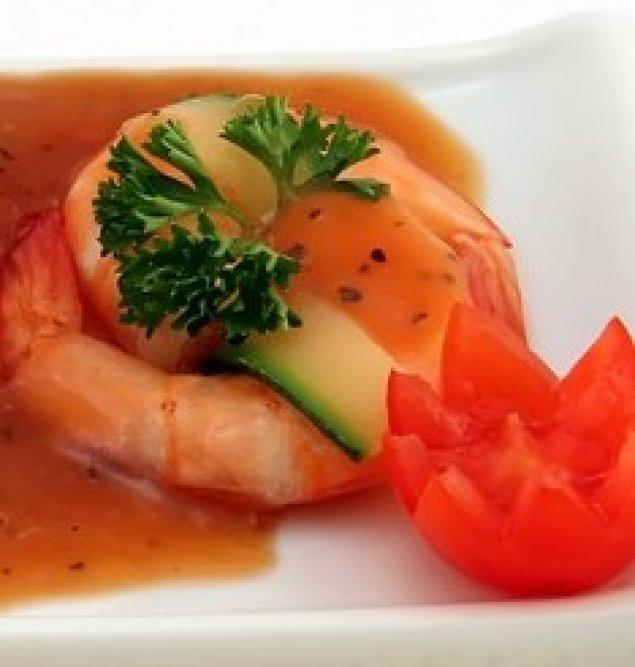 Garnele mit Gemüse-Salsa